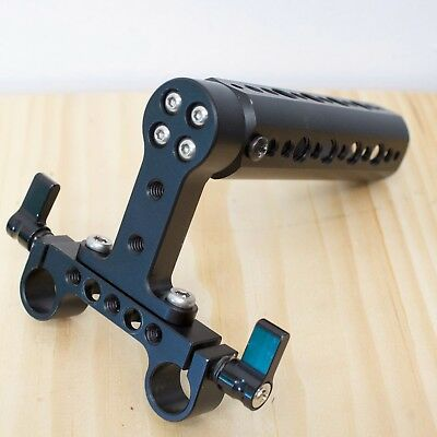 Wooden camera-style Cheese Handle with 15mm Rail block for DSLR Camera Support