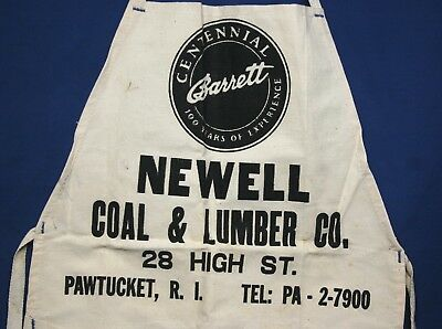 Vintage New Old Stock, Newell Coal + Lumber Hardware Apron Pawtucket RI
