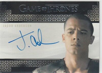 Game Of Thrones Valyrian Steel - Jacob Anderson (Grey Worm) Valyrian Autograph L