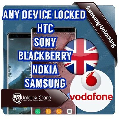 UNLOCK CODE Samsung Galaxy S5 S7 S7 Edge S6 Edge Plus S6 Vodafone UK Only