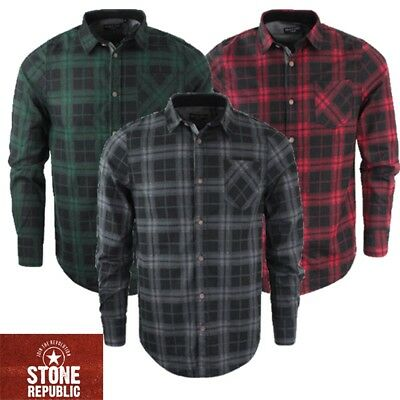 Mens Lumberjack Check Shirt By Brave Soul Brushed Cotton Casual Long