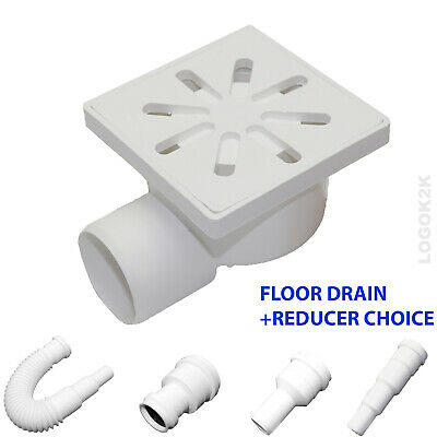FLOOR DRAIN Bathroom Wet Room Shower With TRAP 100x100mm /Ø 50 + REDUCER 40 32 P