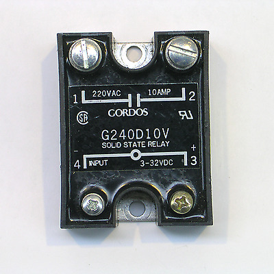 Gordos G240D10V Solid State Relay 220VAC 10A x 3-32 VDC - TESTED SSR