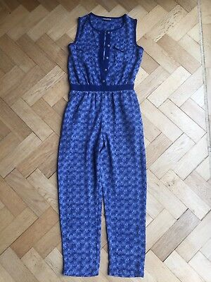 Girls Blue Jumpsuit from Next - Age 9 Years