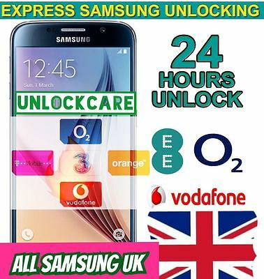 SAMSUNG GALAXY S8+ S8 S7 S7 Plus Unlock Code ee O2 Vodafone 3 UK NETWORK FAST