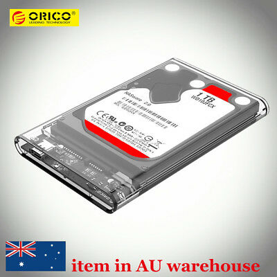ORICO 2.5inch Transparent Type-C USB 3.1 SATA Hard Drive Case SSD HDD Enclosure
