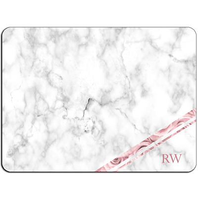 Mousepad EasyGrip Non Slip Mouse Pad PERSONALISED Initials Marble Y01509