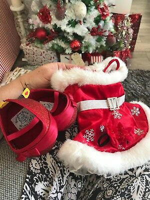 Build a Bear Christmas Dress, Shoes And Accessories. Limited edition. NWOT