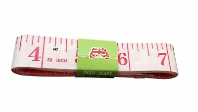 Body Measuring Ruler Sewing Cloth Tailor Tape Measure Soft Flat 60In 150Cm P/W