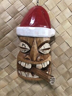 New Cigar Smokin' Santa Tiki Christmas Ornament by Smokin' Tikis Hawaii