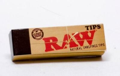 5 packs of Raw Rolling Paper Tips Filter Chemical Free Spacer 50 Tips per Pack