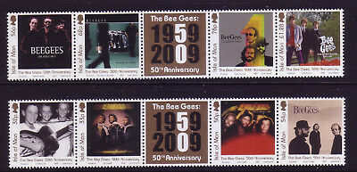 2009 Isle of Man. 50th Anniversary of the Bee Gees SG1527/34 MNH