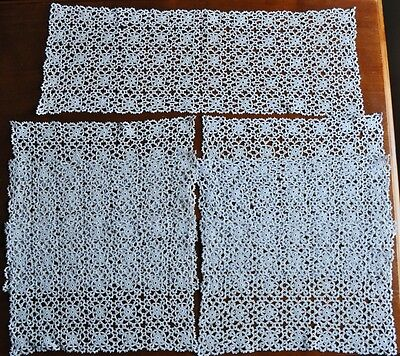 Vintage Hand Crochet Doilies - Set of 7 - Table Runner and Doilies