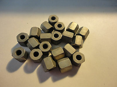 20Pcs  #8  3/8''x .375L Hex Spacer H.h.s.#2316