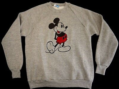 VINTAGE 80s MICKEY MOUSE TRI BLEND sweatshirt mens XL DISNEY WORLD MADE IN USA