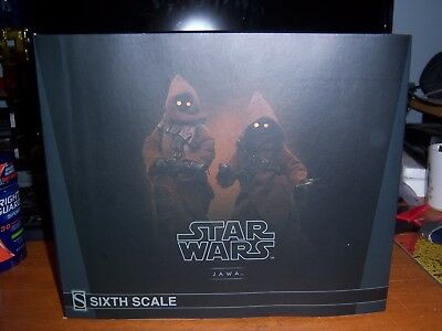 "Star Wars Sideshow Jawa 1/6 Scale Figure Set 2 Pack New 9"" Tall Detailed Jawas"