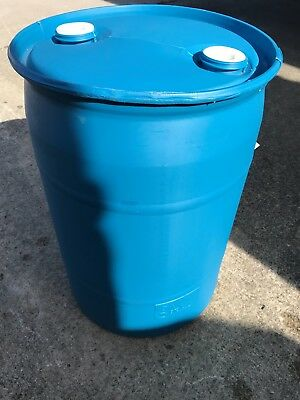 30 Gallon Drum with Screw Cap - Blue Drum Triple Washed Rinsed