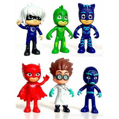 Set 6pc PJ masks Figure Doll Toy Action Toy Owlette Catboy Anime Kids Xmas Gift