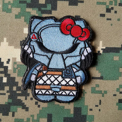Cartoon Hello Kitty Predito Morale Hook Patch Embroidered Swat Tactical Badge