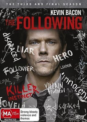 The Following The 3rd & Final Season Kevin Bacon  4-Disc Set Region 4 DVD EXC