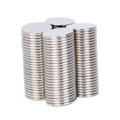 100pcs Neodymium Magnets Rare Earth NdFeB N35 Disk Ring Strong Craft 10mm x 1mm