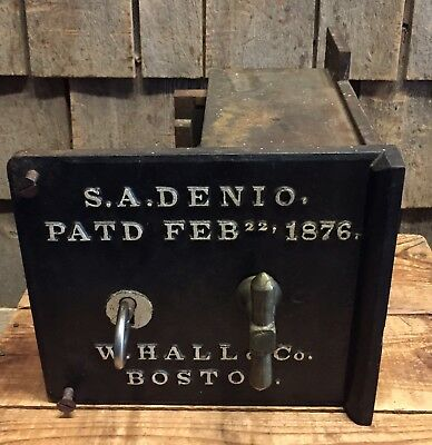 ULTRA RARE 1800's S.A. Denio W.Hall & Co. Boston MA LARGE Prison Cell Lock WOW!!