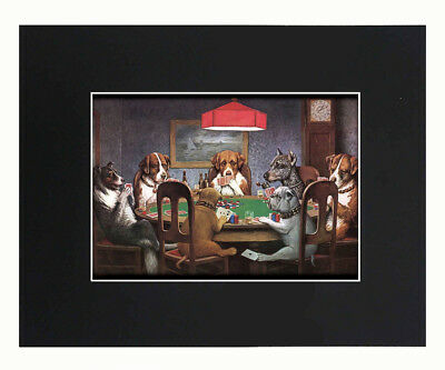 Dogs Playing Poker A Friend in Need Coolidge Print Picture poster 8x10 U.S.Sell