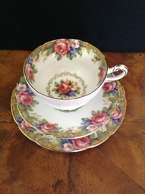"Paragon  China Trio  ""Tapestry Rose"""