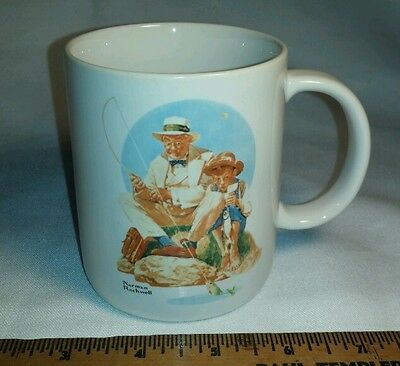 Catching The Big One by Norman Rockwell 1987 Coffee Mug