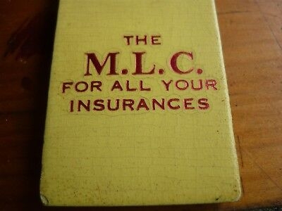Vintage MLC Thermometer 'For all your Insurances'