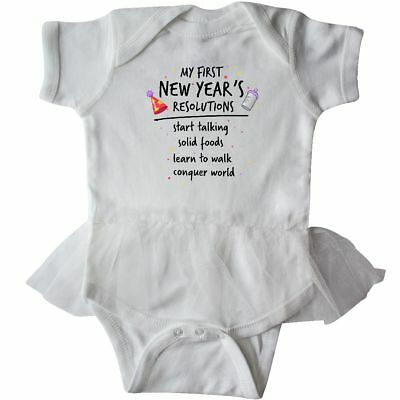 Inktastic My First New Year's Resolutions Infant Tutu Bodysuit Fireworks Party