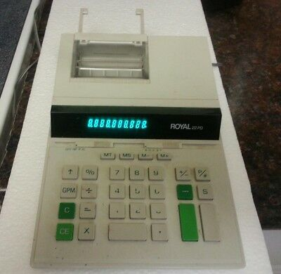 Vintage Royal Printing Calculator 22PD RETRO POS Point of Sale UPS Battery Back