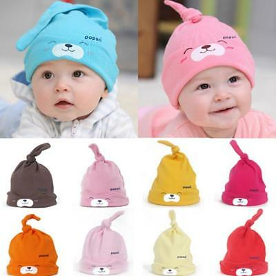 Unisex Newborn Baby Kids Cute Infant Cotton Soft Boy Girl Toddler Beanie Hat Cap