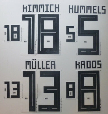Set Flock Nameset Home Trikot Deutschland jersey shirt Germany 2018