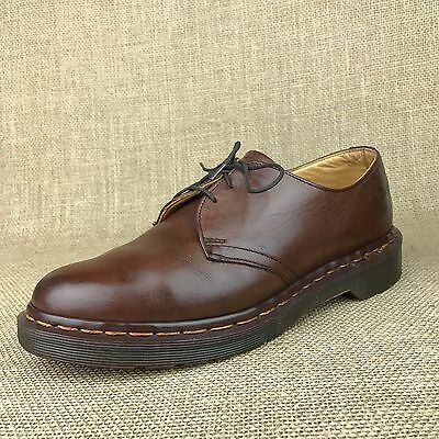Dr. Martens The Original US 7 Brown Leather Air Cushion Oxfords Made in England