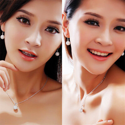 Fashion Women Silver Plated Ball Pendant Necklace Chain Clavicle Chain Jewelry