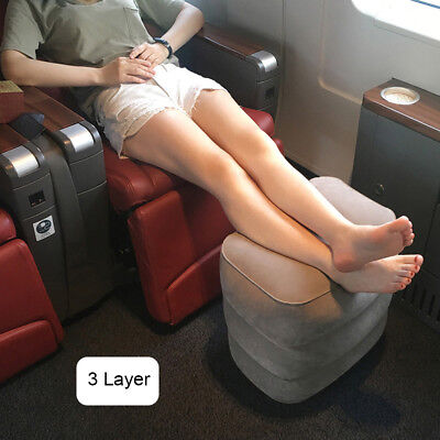Plane Train Travel Inflatable Foot Rest Portable Pad Footrest Pillow Kids Bed OZ