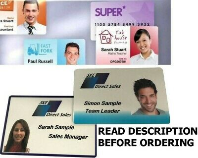 CUSTOM Printed Plastic ID Cards, Staff Name Badges, Membership Business Cards