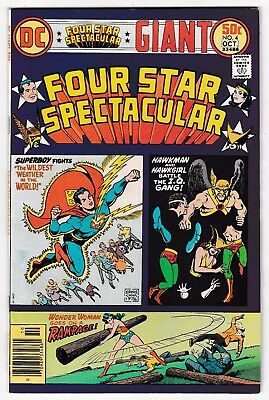 FOUR STAR SPECTACULAR #4 (VF+) HAWKMAN! WONDER WOMAN! 1976 DC Big 52 Pages