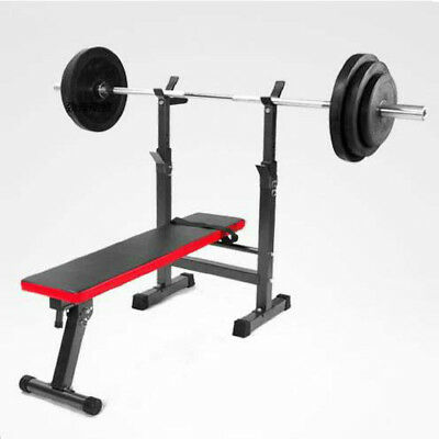 Adjustable Weight Bench Set Press Mid Width Fitness Home Exercise Gym Workout US