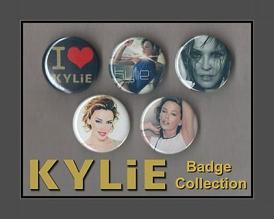Kylie Minogue  - 5 X 31 mm Button Badges Set 1 - KYLIE