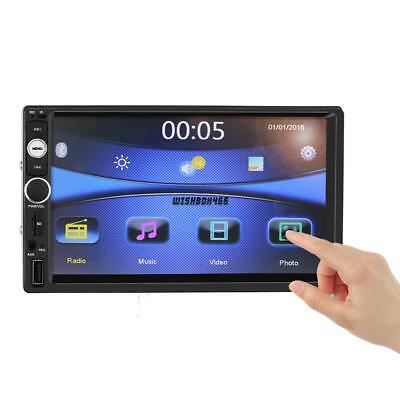 "Car MP5 MP3 Player 7"" Double 2DIN HD Bluetooth Touch Screen Stereo Radio Camera,"