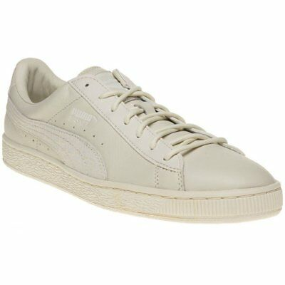 New MENS PUMA NATURAL WHITE BASKET CLASSIC CITI LEATHER Sneakers Retro 150068b01