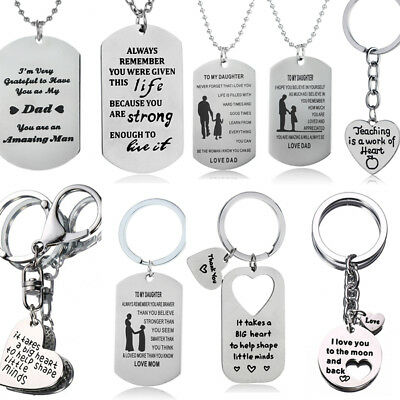 CHRISTMAS GIFTS FOR Mum Dad Son Daughter Necklace Keyring Mother Mom ...