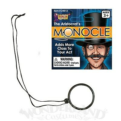 Monocle Eye Piece Detective Victorian Fun Costume Steampunk 1920s Gentleman