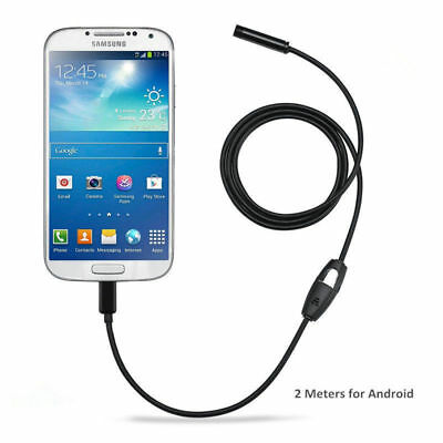 7mm 2M Waterproof Endoscope Inspection 6LED Camera for Android Smartphone Tablet