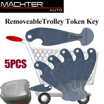 5 X Shopping Retractable Trolley Token Key Coles Woolworths +Bottle Opener Nni