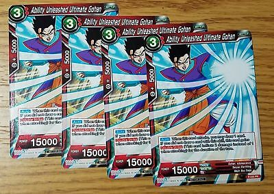 Ability Unleashed Ultimate Gohan Playset x4 Dragon Ball Super Promo NM