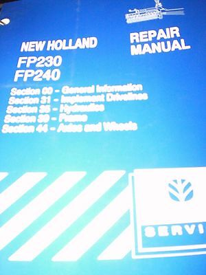 New Holland FP230, FP240 Forage Harvester Repair Manual 2000