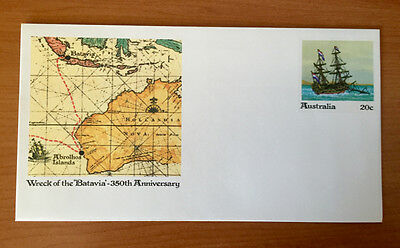 "20 cent ""Wreck of the Batavia"" Australian Pre Stamped Envelope Mint"